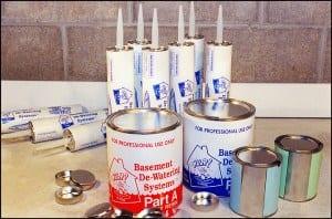 basement caulking and sealants